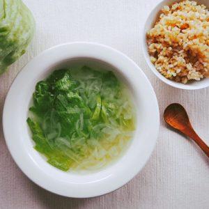 レタスのコンソメ風塩スープ