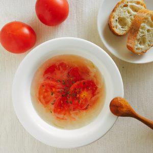 トマトの中華風塩スープ