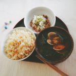 アサリと小松菜
