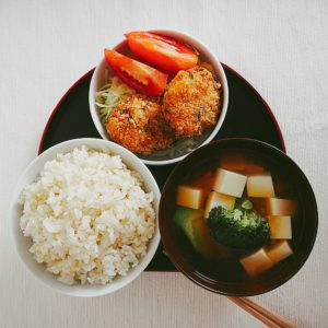 胚芽米を使った一汁一菜